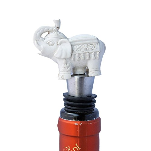 White Wine Bottle Stopper (Good Luck Elephant Wine Bottle Stopper)