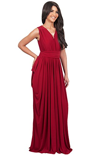 Abendkleid Brautjungfer Purpur Maxikleid Koh Layered Koh Damen Sleeveless wXgqAHF