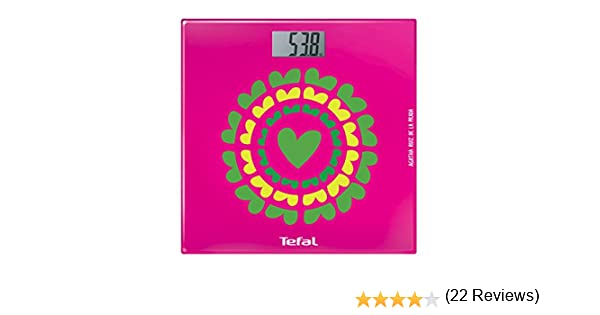 Tefal Optiss Marigold - Báscula de baño, con pantalla digital extra grande, multicolor: Amazon.es: Salud y cuidado personal