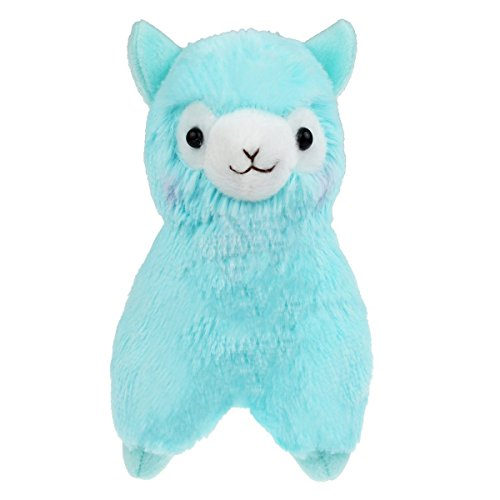 Cuddly Plush Animal (Cuddly Plush Soft Baby Stuffed Animals Toy Llama Lamb Blue Alpaca Doll 7