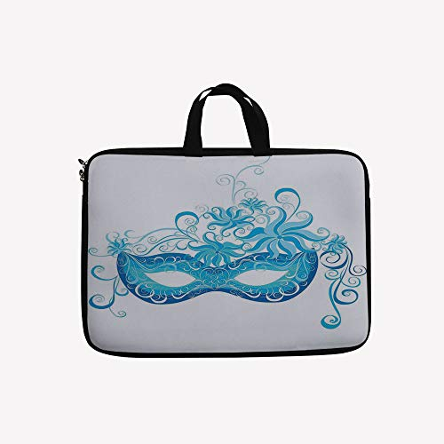 3D Printed Double Zipper Laptop Bag,Majestic Impersonating Enjoying Halloween Night,13 inch Canvas Waterproof Laptop Shoulder Bag Compatible with11.12.6