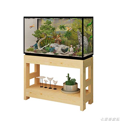 (Shelf Floating Shelves Aquarium Stand Flower Stand Wood Multi-Layer Household Tree Storage Rack (Color : Wood Color, Size : 503070cm))