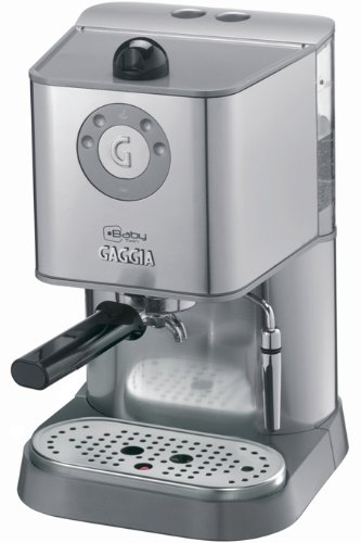 Cheap Gaggia 12500 Baby Twin Espresso Machine with Dual Heating System, Stainless Steel with 3 Free Coffee Boxes and More…