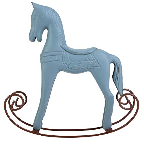 Kids Toy Gift Table Decoration,Handmade Wooden Rocking Horse Carved Painted(#2)