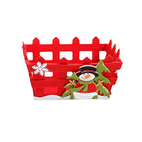 QISC Christmas Tree Toy Gift Basket Candy Storage Basket Decoration Gift (B) (Mrs. B's Gift Baskets)