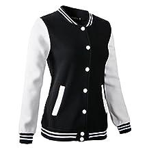 Women Varsity Jacket Casual Loose Hoodie
