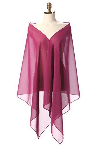 CoCogirls Chiffon Stola Schal für Abendkleid Weicher Chiffon-Shawl wickelt jedem Brautkleid - Ballkleid, Hochzeit Abend Gala Empfang (200*50cm, Color#46)