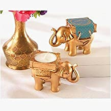 BST Wedding Favors Gold Lucky Elephant Tealight Holder Wedding Favor