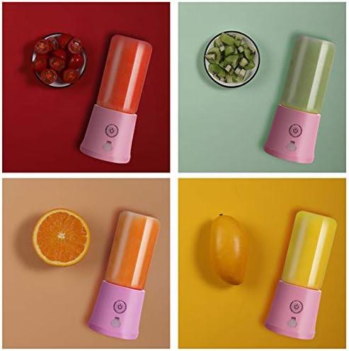 FDQNDXF Mélangeur Portable, Mini Presse-Agrumes Rechargeable par USB, Utilisé pour Les Smoothies Aux Fruits pour Secouer La Nourriture pour Bébé,Bleu,Single Cup