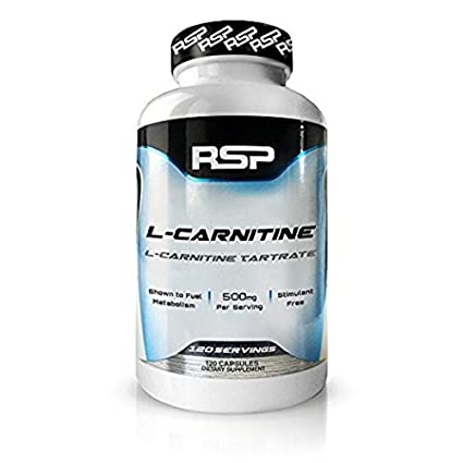 RSP L-Carnitine 500mg, 100% Stimulant-Free Metabolism Enhancement for Men and Women, 120 Capsules