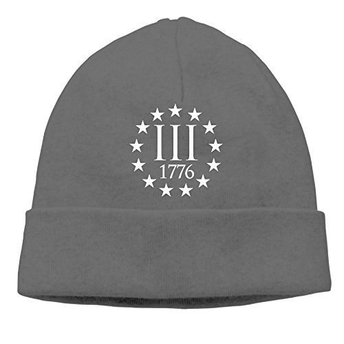 Literature Definition Costume (Uanjuzn Three Percenter 1776 Symbol Men/Women Cool Fashion Hedging Hat Wool Beanies Cap)