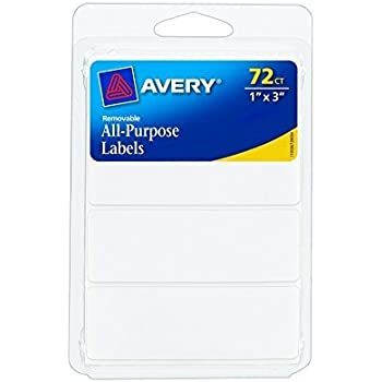 amazon com avery removable print write labels 1 x 3 inches white