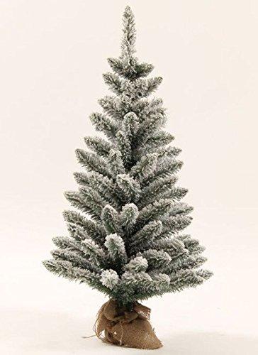 KING OF CHRISTMAS 2 Foot Jr Prince Flock Artificial Christmas Tree