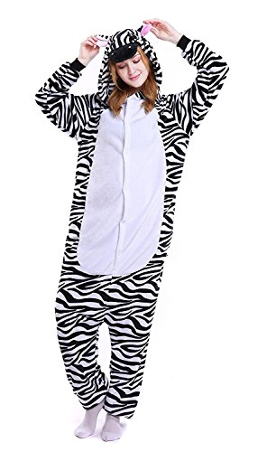 YACHUN Uinisex Adult Pajamas Onesie Kigurumi Cosplay Costumes Animal Jumpsuit Zebra-M - Yorkie Teddy Bear Costume