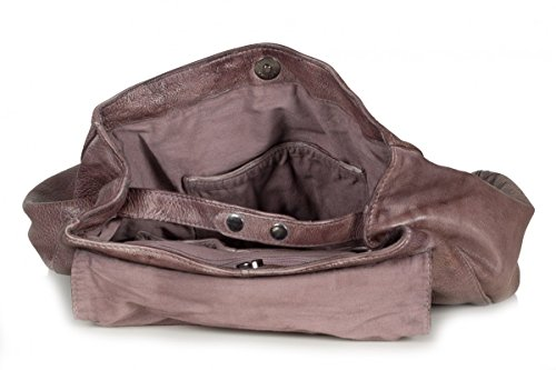 FREDsBRUDER S.C. All in Damen Handtasche Umhängetasche aus weichem Leder dusty mauve (27 x 33 x 3 cm)