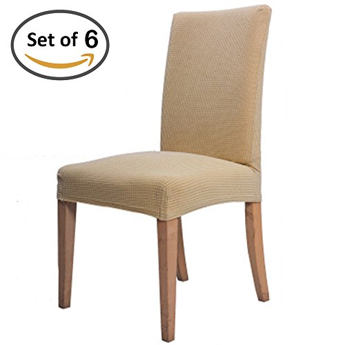 Scorpiuse Jacquard Stretch Dining Chair Covers Spandex Dinin