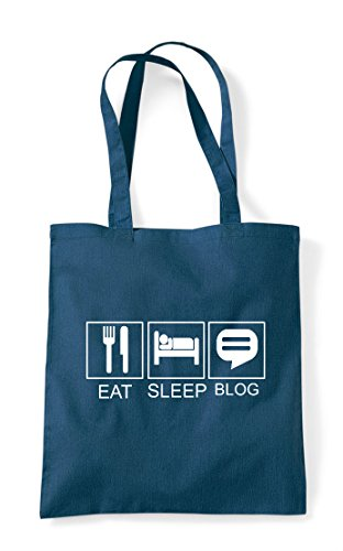 Activity Tiles Funny Sleep Petrol Blog Tote Shopper Hobby Eat Bag TEXPf