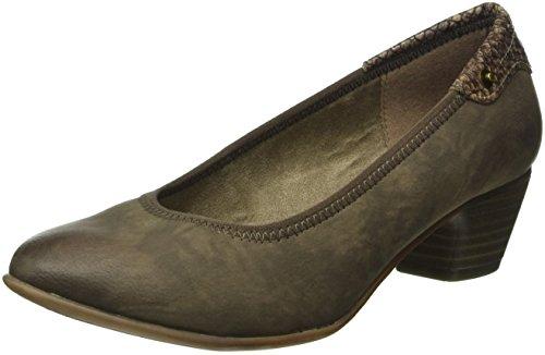 s.Oliver 22301, Zapatos de Tacón para Mujer Marrón (PEPPER COMB. 392)