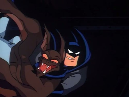 On Leather Wings Batman Superman Adventures