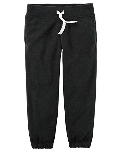 Carters Fleece Sweatpant (Carter's Little Girls' Fleece Active Pants (5, Black))