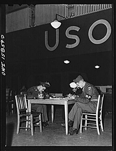 Reproduced Photo of Chicago, Illinois. The USO United Service Organizations Lounge is on The River Drive Side of The Union Station Above The telegrapher39;s Office 1943 Delano C Jack 37a by Vintography