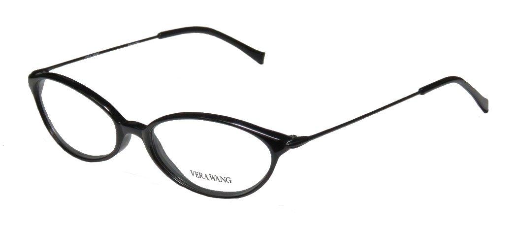 Vera Wang V11 Womens/Ladies Prescription Ready Hip & Chic Designer Full-rim Eyeglasses/Eyeglass Frame (49-16-135, Black)