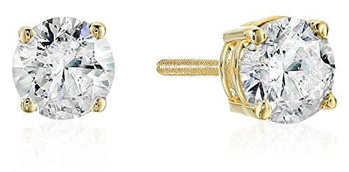 14k Gold Diamond with Screw Ba