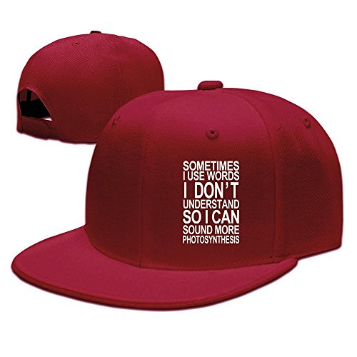 [Sometimes I Use Words I Do Not Understand Funny Baseball Snapback Cap Red] (Funny Hats For Sale)