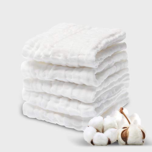 NKKFREY Baby Muslin Washcloths12x12