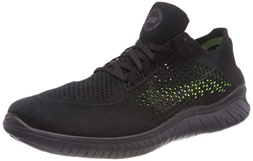 Nike Mens Free RN Flyknit 2018 Running Shoes (10) Black/Anthracite