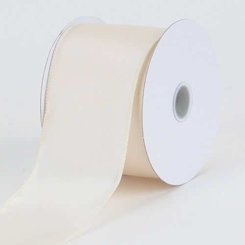 BBCrafts 2-1/2 inch x 10 Yards Thick Wired Edge Satin Ribbon Decoration Wedding Party ()