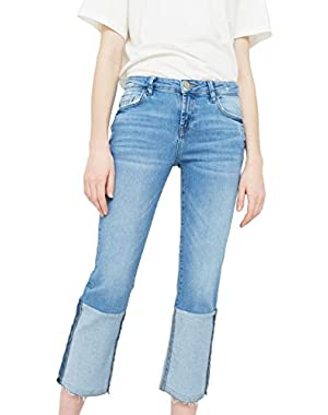 Mango Women's Twosides Striaght Jeans