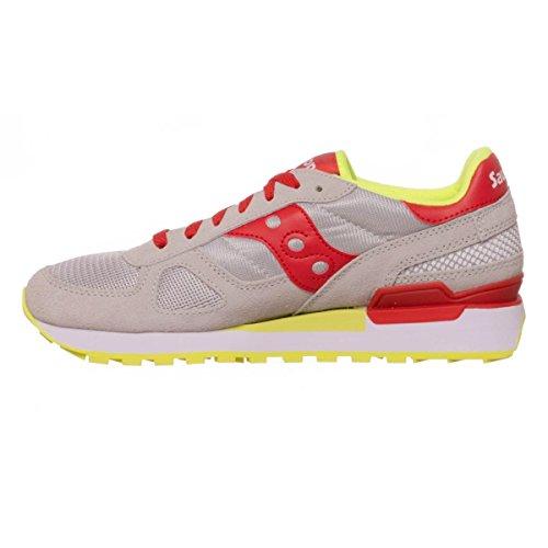 Saucony Shadow Original - Zapatillas de Running para Asfalto Unisex adulto Grey/Red
