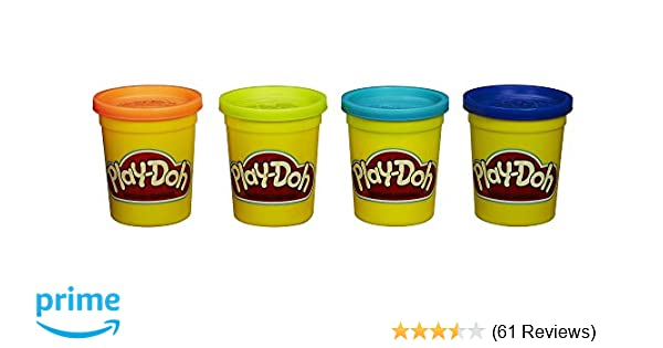 c43835418e Amazon.com  Play-Doh 4-Pack (Assorted Colors)  Toys   Games