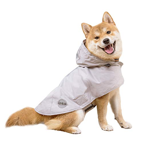 NOURSE CHOWSING Dog Waterproof Outdoor Jacket,Windproof,cold weather coat,Lined Reflective Raincoat with a Tape Measure