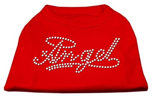 Mirage Pet Dog Cat Indoor Oudoor Polyester Apparel Gift Travel Accessories Angel Rhinestud Shirt Red XXXL(20) by Mirage Pet by Mirage Pet