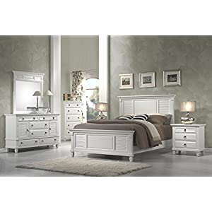 Alpine Furniture 5 Piece Winchester Shutter Panel Bedroom Set, Queen Size