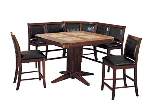 HOMES: Inside + Out Gullitch Counter Height 8 Piece Dining Set, Tobacco Oak