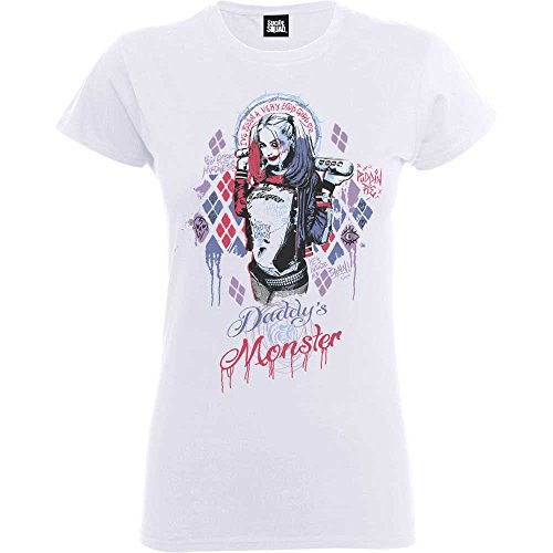 DC COMICS Frauen T-Shirt SUICIDE SQUAD DADDY'S LIL MONSTER XXL