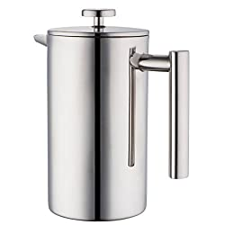 MIRA Stainless Steel French Press Filters, Set of 3, Fits Most 20 oz French Presses