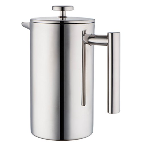 - MIRA 20 oz Stainless Steel French Press Coffee Maker | Double Walled Insulated Coffee & Tea Brewer Pot & Maker | Keeps Brewed Coffee or Tea Hot | 600 ml