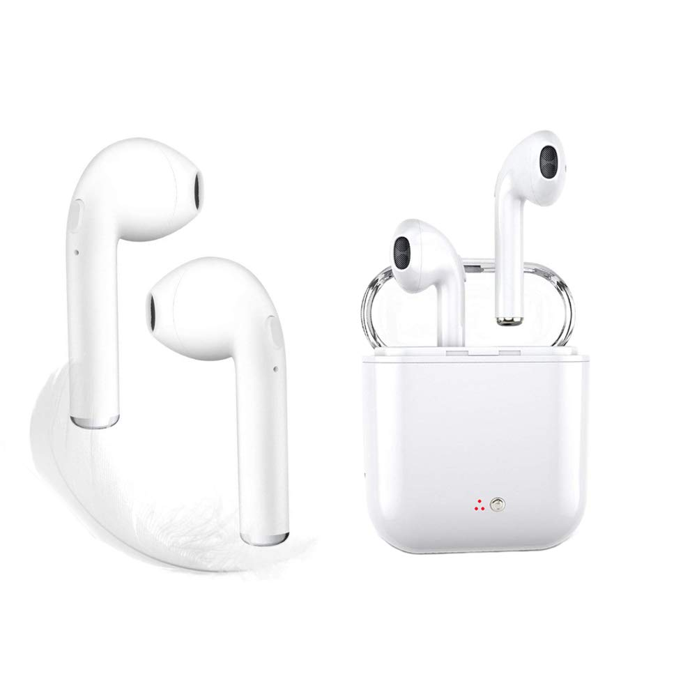 Wireless Earbuds, Bluetooth Earburds Stereo with Mic Mini in-Ear Earbuds Earphones Earpiece Sweatproof Sports Earbuds Compatible with Apple iPhone X 8 7 6 Plus Samsung Android Shonz