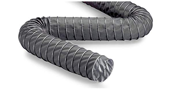NORRES High Temperature Blower Hose up to 570/°F Flame Retardant 10 ID 25 ft