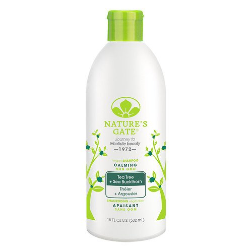 Nature's Gate Tea Tree Calming Shampoo, 18 Ounce - 6 per case. (Rosemary Shampoo Purifying)