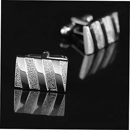 LovelysunshiDEany Exquisite 2 Teile//Satz Metall Frankreich Stil Unisex Manschettenkn/öpfe F/ür Shirts Trendy Hemd Manschettenkn/öpfe Manschettenkn/öpfe Schmuck Silber Silber