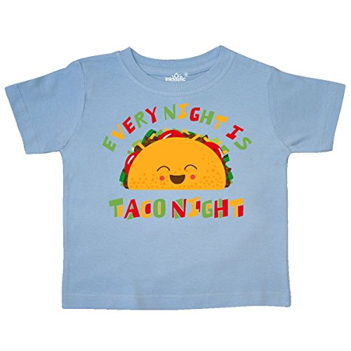 Light T-shirt Coffee (inktastic - Tacos Every Night Toddler T-Shirt 4T Light Blue 2f768)