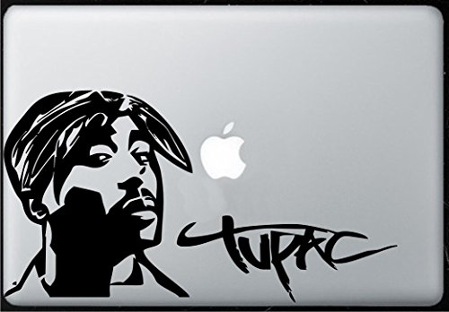 - Tupac Shakur 2pac - Sticker Decal Macbook, Air, Pro all Models.
