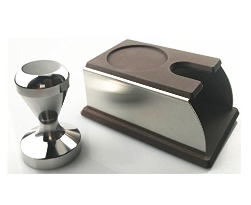 Espresso Coffee Tamper Stainless Steel 51mm + Coffee Tamper Stand Mat Storage Base with Mat