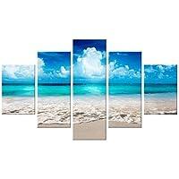 Quadro Moderno 5 pezzi in legno Vogue 48X85 cm SEA SUMMER
