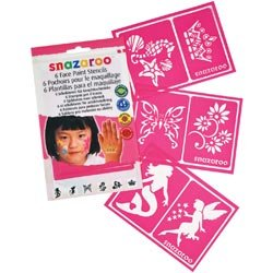 Snazaroo Bulk Buy (2-Pack) Face Painting Stencils 6 Pack Girls Fantasy 1198014 by Snazaroo